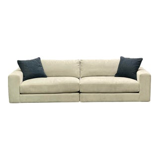 Vintage Contemporary McCreary Modern Wide Track Arm Sectional Sofa For Sale