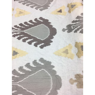 Lee Jofa Embroidered Ikat Fabric - 6 2/3 Yards For Sale
