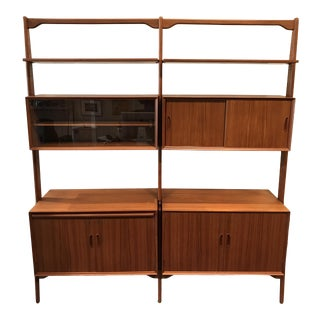 Erik Buck System V Shelving & Storage Unit Danish Modern For Sale
