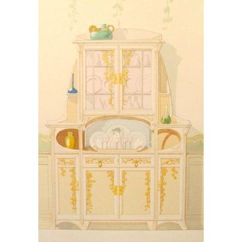 Vintage French Decorator Sheet Interior/Sideboard - Image 2 of 3
