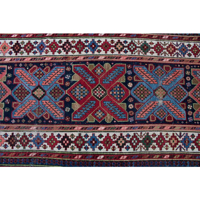 Traditional Antique Persian Talish Runner- 3′8″ × 9′1″ For Sale - Image 3 of 4