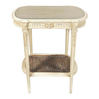 19th Century French Louis XVI Painted End Table For Sale