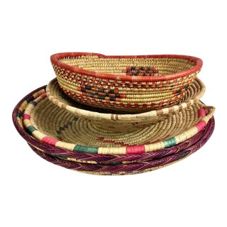 African Woven Baskets - Set of 5