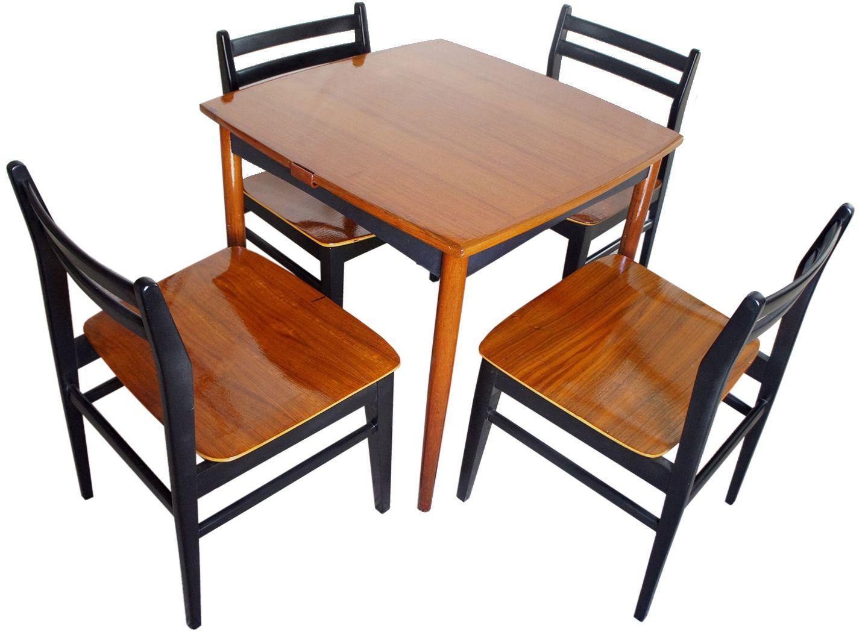 Danish Modern Game Table Set