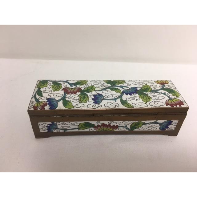 Antique Cloisonne Stamp Box For Sale - Image 5 of 8