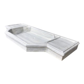 Art Deco Turkish Marble Sink   Antique Marble Counter Sink For Sale