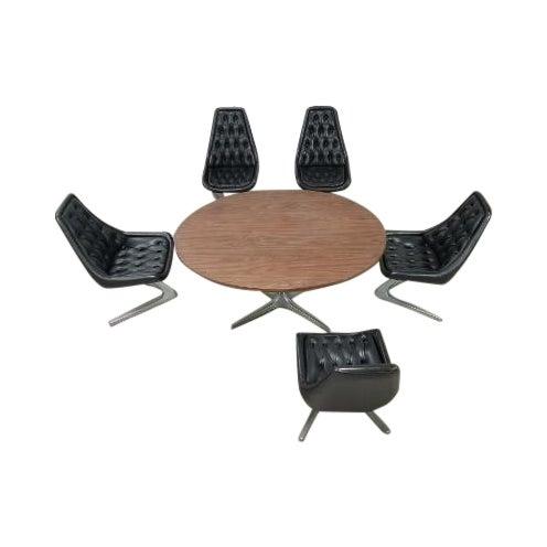 "Mid Century Vladimir Kagan Chromcraft ""Unicorn"" Sculpta Dining Set - 7 Pieces For Sale"