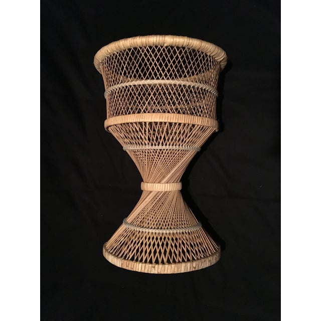 Rattan Wicker Plant Stand For Sale - Image 9 of 9