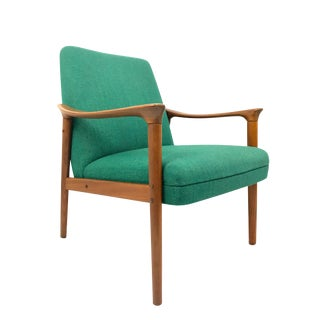 PI Langlos Fabrikker Mid-Century Norwegian Teak Lounge Chair For Sale