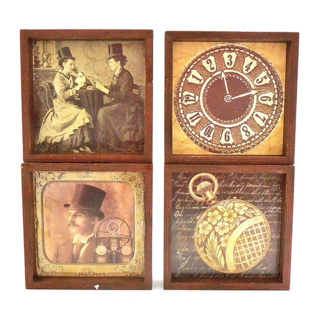 Steampunk Drink Coasters - Set of 12 For Sale - Image 4 of 10