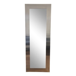 Room & Board Stainless Steel Manhattan Leaning Mirror For Sale