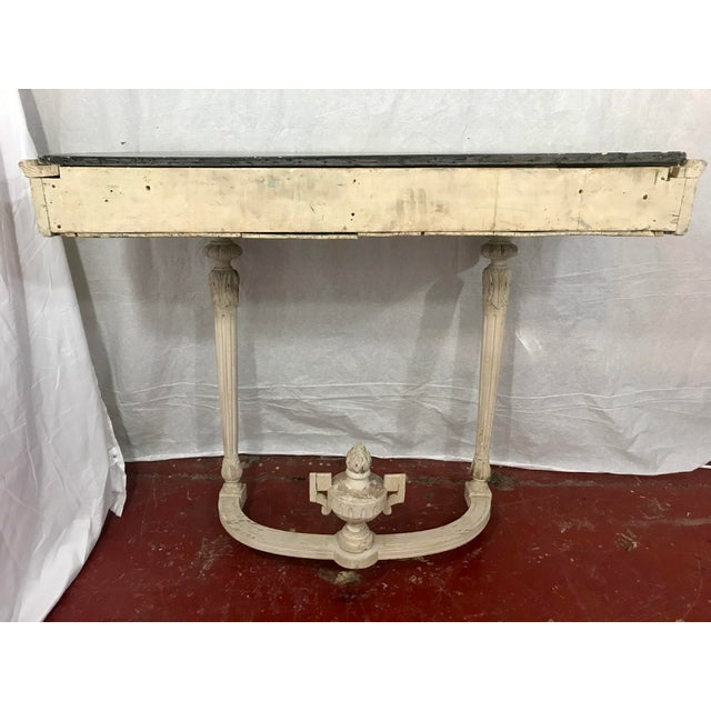 Late 19th Century Louis XVI Style Painted Consoles a Pair For Sale - Image 5 of 13