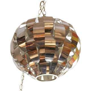 1960's Mid-Century Modern Max Sauze Lightolier Chandelier For Sale