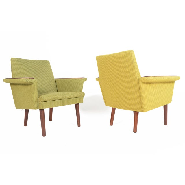 Danish Modern Teak Pawed Lounge Chairs - A Pair - Image 4 of 10