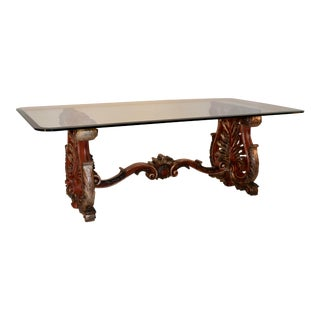 19th C Italian Painted Coffee Table For Sale