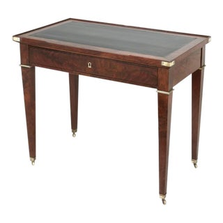 French Mahogany Petite Desk or Game Table For Sale