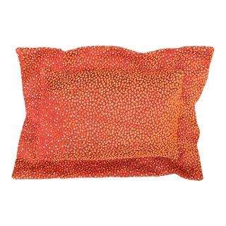 Orange Polka Dot Chenille Lumbar Pillow For Sale