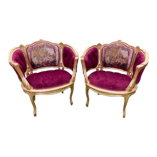 Antique French Louis XVI Style Corbeille Chairs - Only One Chair Left For Sale