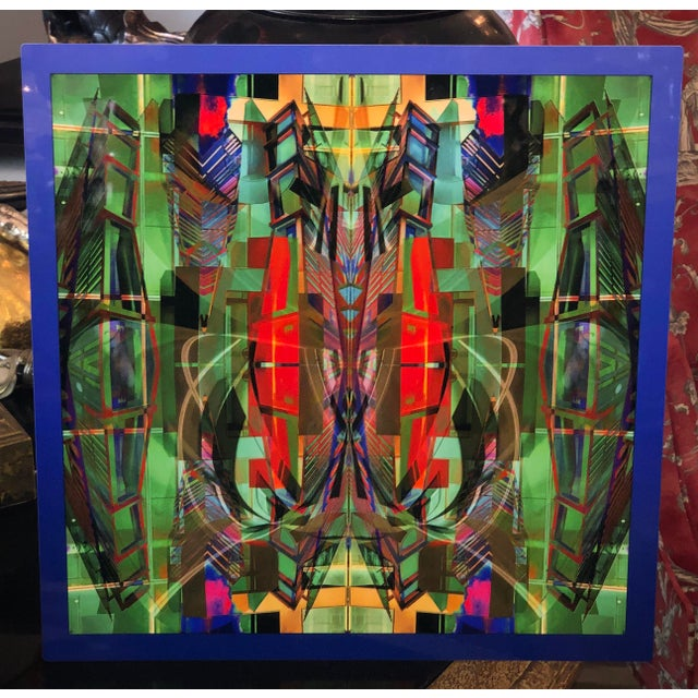 2010s Dan Freund Modernist Mixed Media Photographic Modern Art Aluminum Picture For Sale - Image 5 of 5