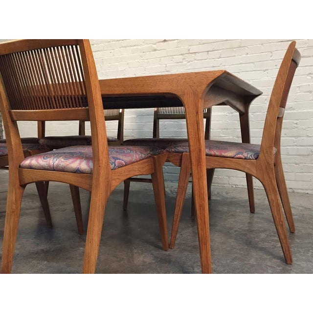 John Van Koert for Drexel Dining Set With Six Chairs - Image 3 of 11