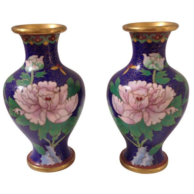 Cloisonné Vases - A Pair - Image 1 of 8