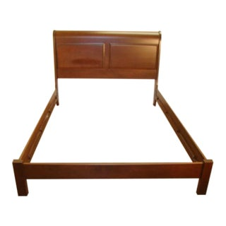 Solid Cherry Queen Size Sleigh Bed For Sale