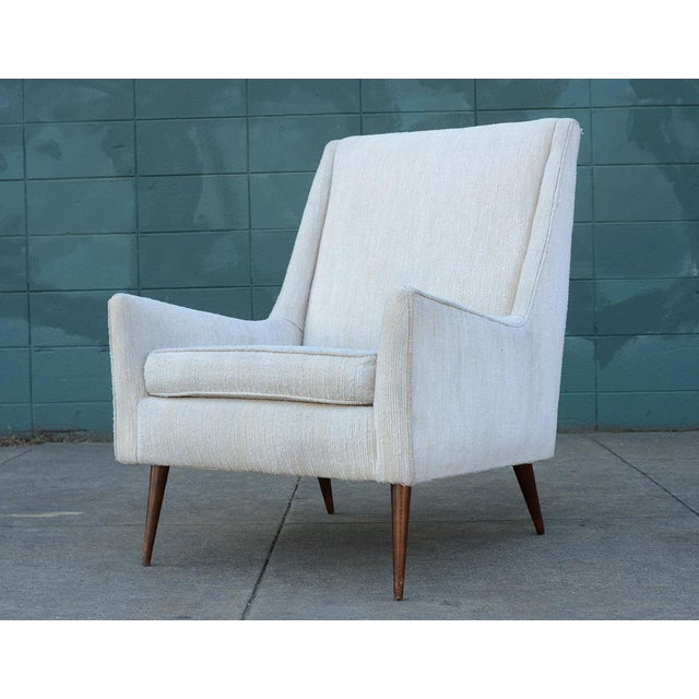 1950s Mid Century Modern Upholstered Lounge Chair For Sale - Image 11 of 11