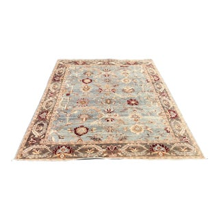 Stunning Contemporary Turkish Oushak Wool Rug For Sale
