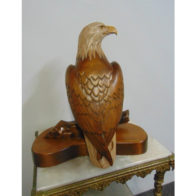 Hand Carved American Bald Eagle Statue For Sale In Philadelphia - Image 6 of 7