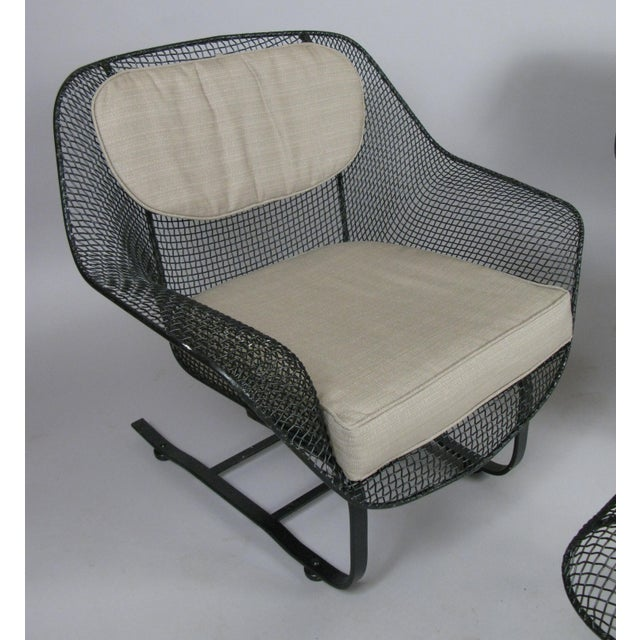 Russell Woodard Woodard Sculptura Lounge Chairs & Ottoman - Set of 3 For Sale - Image 4 of 7