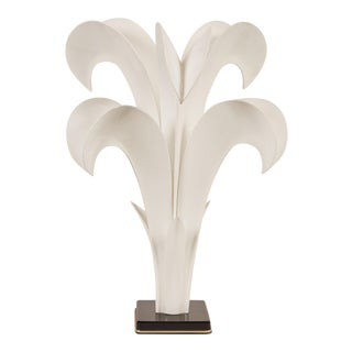 20th Century Maison Rougier Floriform Table Lamp For Sale