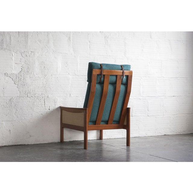 Danish High Back Lounge Chair & Ottoman - Image 6 of 10