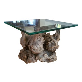 Driftwood Burl Wood Table For Sale