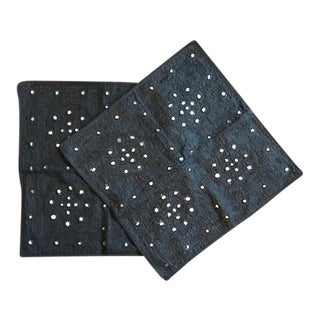 Decorative Black Mirror Pillow Covers - a Pair