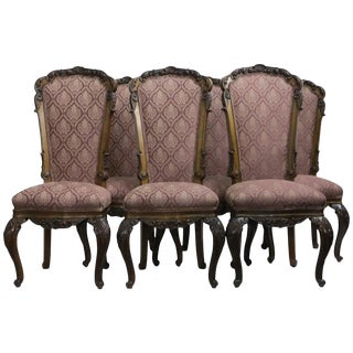 19th Century Louis XV Style High Back Dining Chairs - Set of 6