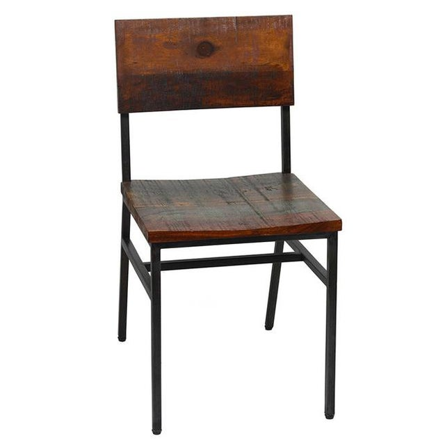 Reclaimed Wood & Iron Chair - Image 1 of 2