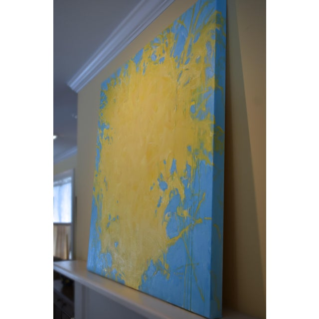 """Forsythia"" Abstract Painting - Image 5 of 9"