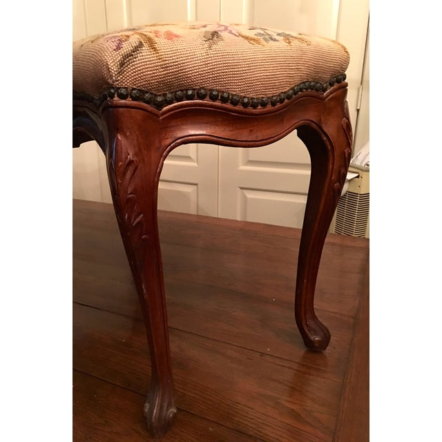 Louis XV Style Needlepoint Bench - Image 3 of 5