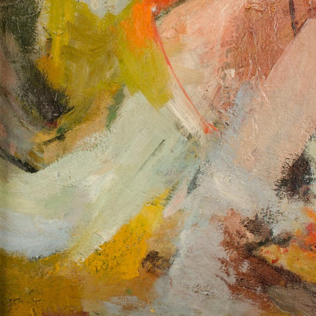 """Mid 20th Century """"Figure in Sea"""" Abstract Oil Painting by Belinda Henderson, Framed For Sale In Philadelphia - Image 6 of 10"""