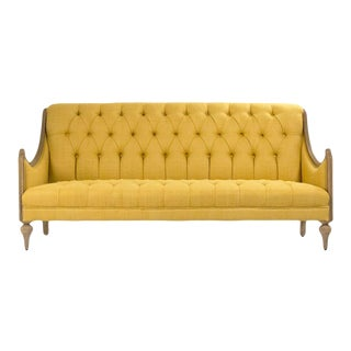 Graham Walsh Sofa in Mustard For Sale