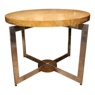 Custom Made Mid-Century Burwood Game Table For Sale