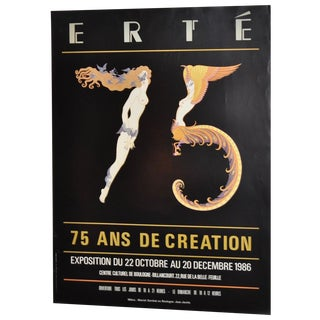 Erte French Exhibition Poster C.1986