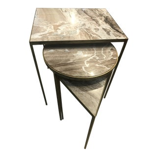 Art Deco Mr. Brown Julio Nesting Tables - 3 Pieces For Sale