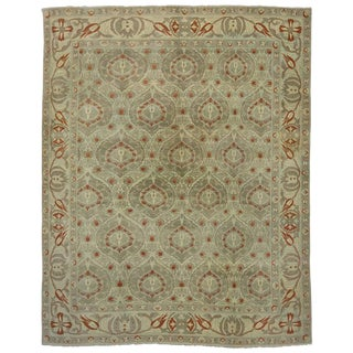 Modern Turkish Oushak Rug with Transitional Style, 13'10 x 17'04