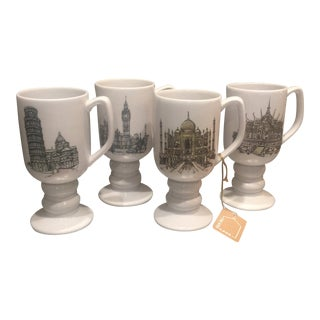1960s Vintage Kaysons International Landmark Mugs - Set of 4 For Sale