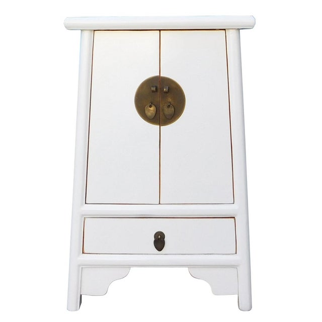 Chinese Off White End Table Chairish
