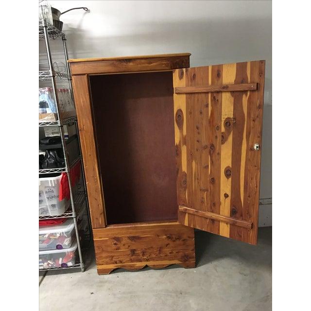 Vintage Cedar Armoire - Image 3 of 9