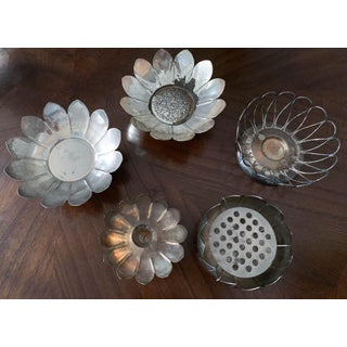Collection of 5 Silver Finish Flowers Preview