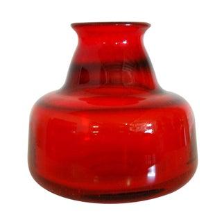 Erik Hoglund Vintage Swedish Red Art Glass Vase II for Boda For Sale