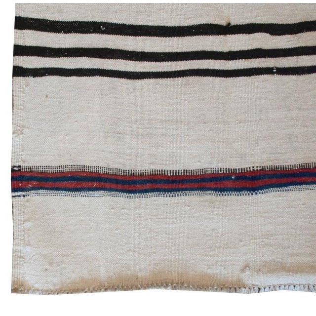"""Early 20th Century Gabbeh Kilim Runner - 34"""" x 152"""" For Sale - Image 4 of 4"""